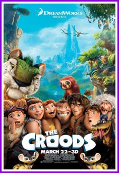 The Croods - The World's First Modern Family (A Preview and Giveaway).  A great movie the whole family can enjoy over spring break