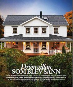 Hannah-Drömvilla Exterior Design, Interior And Exterior, Curb Appeal, House Plans, Sweet Home, New Homes, Villa, Cottage, Mansions