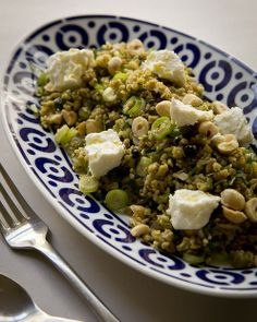 Freekeh salad with hazelnuts and fetta (Recipe here).