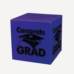 """""""Congrats Grad"""" Purple Card Box - OrientalTrading.com"""