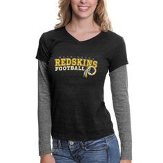 301a5cd52 Touch by Alyssa Milano Washington Redskins Ladies Big Play Long Sleeve  Premium T-Shirt - Black Ash