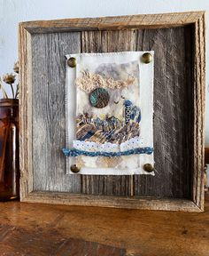 Tea Bag Art Gallery — Carol Ann Webster Tea Bag Art, Carol Ann, Art Projects, Used Tea Bags, Collage Art Mixed Media, Textiles, Barn Wood, Textile Art, Fiber Art