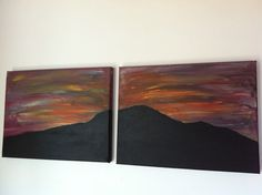 Acrylic  on Canvas, Rangitoto Island, New Zealand, painted by me...:-)