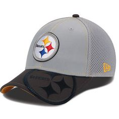 4a5e0432fc5 SALE Pittsburgh Steelers New Era Structured Logo Crop Neo Grey Flex Hat -  Official Online Store