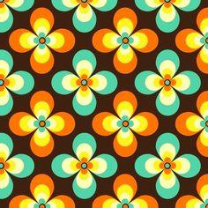 Ideas for wall paper flowers retro print patterns Vintage Pattern Design, Motif Vintage, Retro Design, Vintage Colors, Vintage Flowers, Vintage Patterns, Retro Flowers, Design Design, Et Wallpaper