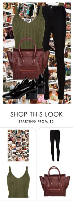 """Monica Geller"" by emilyjohnson225 ❤ liked on Polyvore featuring AG Adriano Goldschmied, CÉLINE and Robert Clergerie"
