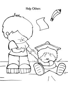 Help Others Coloring Page