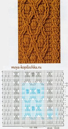 cables and popcorns Crochet Cable Stitch, Crochet Stitches Chart, Gilet Crochet, Crochet Motif Patterns, Crochet Diagram, Knitting Stitches, Stitch Patterns, Knit Crochet, Knitting Patterns
