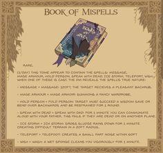 Homebrewing dnd Book of Mispells - homebrewing Dnd Dragons, Dungeons And Dragons 5e, Dungeons And Dragons Characters, Dungeons And Dragons Homebrew, Dnd Characters, Fantasy Characters, Arte Nerd, Dungeon Master's Guide, Dnd Funny