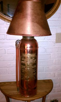Fire Extinguisher I turned into a Lamp for a buddy of mine.