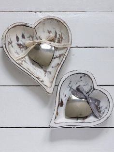 Pretty and practical this large heart shaped wooden bowls has endless practical uses as-well as being beautiful and tactile. Hand made from sustainable mango wood, then finished in distressed white. Interior Decorating, Apartments Decorating, Decorating Bedrooms, Decorating Ideas, Decor Ideas, Two Hearts, Wooden Bowls, Home Decor Kitchen, Spring Collection