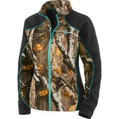 We brought some Big Game® Camo to our ever-popular women's softshell. Made from a fantastic micro-weave shell that's wind/water resistant, and breathable with just the right amount of stretch. Features a cozy soft micro-fleece interior, two large side zippered pockets, and Legendary® Signature Buck embroidery.