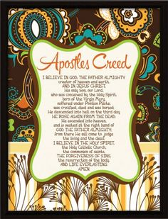 Apostles' Creed Framed Wall Plaque - Multi-Color