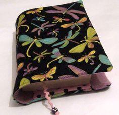 *♥Buchhülle Buchumschlag Libellen incl. Lesezeichen ♥für dicke & dünne Bücher!*     Für Taschenbücher dick und dünn!   Dein Buch für unterwegs- nieman