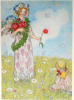Elsa Beskow: 'Fairy of Midsummer' -  From 'The Flower's Festival'