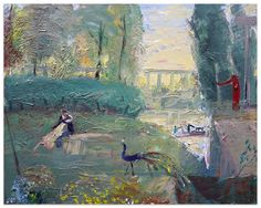 John Bradford Isaac and Rebecca Frolicing in the Gardens of Abimalech, 2016 Positive Images, 2d Art, Bradford, Oil On Canvas, Contemporary Art, Art Gallery, Gardens, Drawings, Artist
