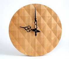 Textured Oak Wall Clock