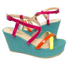 B.F.T. by Barefoot Tess 'Cozumel' Wedge (Neon Yellow) « ShoeAdd.com – More Shoes For You Every Day