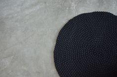felt ball rug - April and mayApril and may