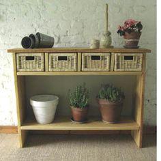 DIY console planches de chantier et tiroirs Ikéa