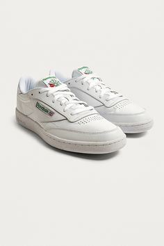 4e974e94d0067 Reebok Club C White and Green Trainers