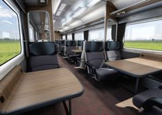 The new-look First Class carriage for Abellio Greater Anglia.