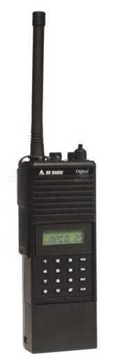 Digital P25 APCO DPHX5102X - 400 Ch, 5 Watt, VHF 136-174 MHz Bendix King Two Way Handheld Radio.