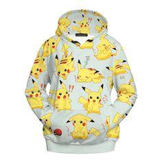 Pokemon Yellow Pikachu Sweatshirt Hoodie //Price: $38.04 & FREE Shipping // #attackontitan #anime