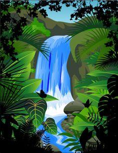Vectores de la selva, animales, plantas y más   Puerto Pixel   Recursos de Diseño