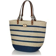 Lauren Ralph Lauren Straw Beach Tote (795 RON) ❤ liked on Polyvore