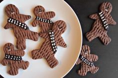 Wookie Cookies! Chewbacca gingerbread men. #starwars