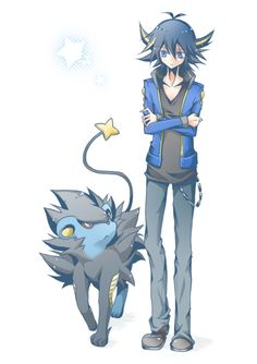 Yusei Fudo and Luxray