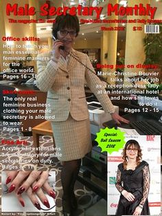 The new issue of Male Secretary Monthly with some of my pictures. Secretary Outfits, Feminized Boys, Sissy Boy, Skirt Suit, Put On, Crossdressers, Peplum Dress, Girly, Feminine