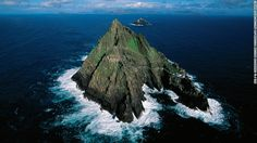 "Filming for ""The Force Awakens"" was confirmed at the ruins of this 7th-century monastery, which sits on the steep sides of the island Skellig Michael. The presence of a film crew has stirred some controversy with conservationists concerned about potential damage to the location."