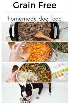 DIY dog food recipes - All Natural - No Preservatives - Grain free - Simple - Healthy