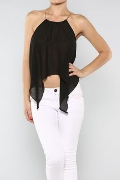 Ladies Solid Halter top in Black on Etsy, $20.00