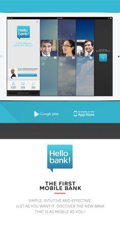 HELLO BANK! IPAD APP by Thomas Ciszewski, via Behance