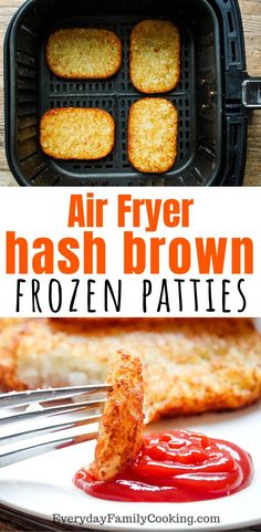 Air frying frozen foods is amazing. These hash browns come out crispy with less oil and even take less time for the perfect air fryer breakfast. Air Fryer Recipes Low Carb, Air Fryer Dinner Recipes, Air Fryer Rotisserie Recipes, Recipes Dinner, Dinner Ideas, Overnight Oats, Hash Brown Patties, Frozen Hashbrowns, Cooks Air Fryer