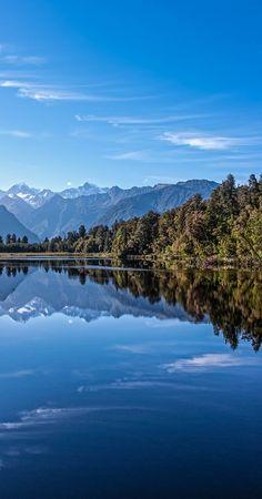 Mirror image - Lake Mathieson, NZ // Premium Canvas Prints & Posters // www.palaceprints.com