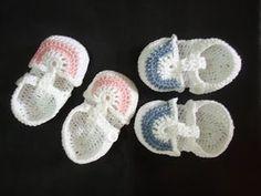 Crochet Baby Shoes ~ Free Pattern: