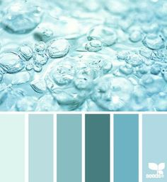 Design Seeds: bubbling teal love the color schemes Hue Color, Colour Pallette, Color Palate, Colour Schemes, Color Patterns, Color Combos, Design Seeds, Colour Board, Deco Design