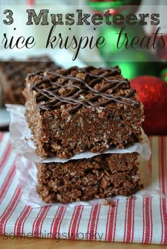 3 Musketeer Rice Krispies Treats on MyRecipeMagic.com