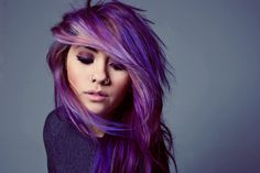 purple #hair #color #purple