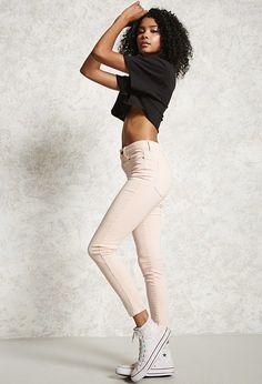 High-Waist Skinny Pants