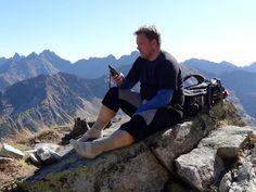 Na szlaku Orlej Perci w Tatrach.