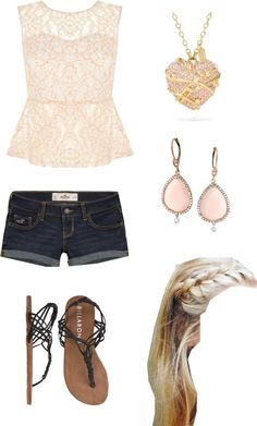 """Summer time outfit"" by volleyballchick15 on Polyvore"