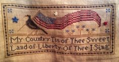 Definitely want to stitch this!  La D Da - Land of the Free (from Bush Blog )