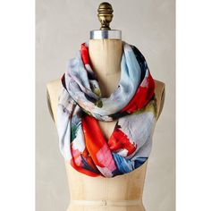 Blank Shiranoe Infinity Scarf ($58) ❤ liked on Polyvore featuring accessories, scarves, red, red scarves, round scarf, red infinity scarves, tube scarves and loop scarves