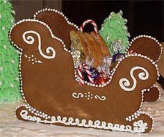 Ricette di Natale: una slitta di pan di zenzero. Speciale Natale - www.Sottocoperta.net