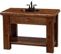 U0027Sawmill Campu0027 Rustic Vanity From The Log Furniture Store $639 · Rustic  Bathroom SinksVanity ...